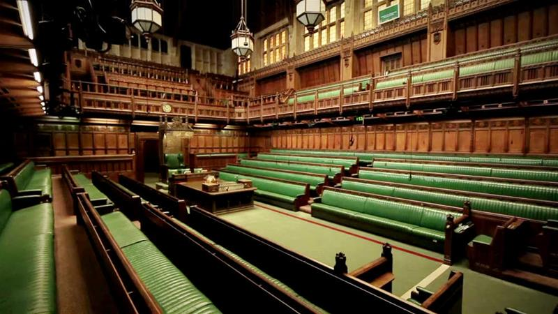 The United Kingdom's House of Commons currently stands empty [UK Parliament/Public domain]